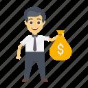 avatar, dollar, employee, pay, user