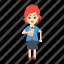 avatar, employee, female, girl, women