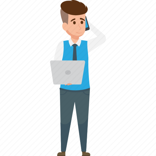 Businessman, businessman calling, calling, telephone icon - Download on Iconfinder