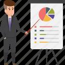 analytics, business, businessman, graph, presentation, stats