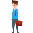 business traveling, businessman, businessman with suitcase, traveler, traveling icon