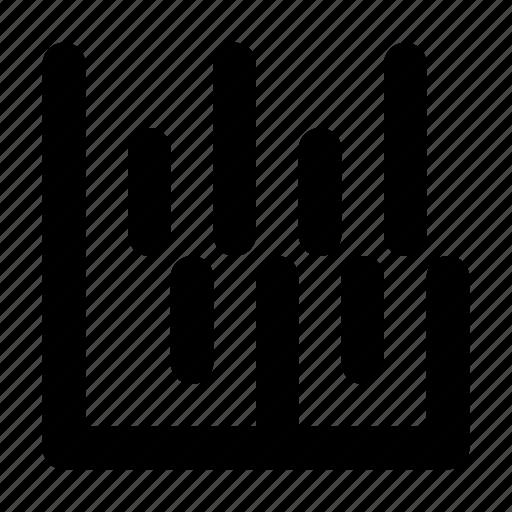 analytics, chart, data, graph, graphic, stats, vertical icon