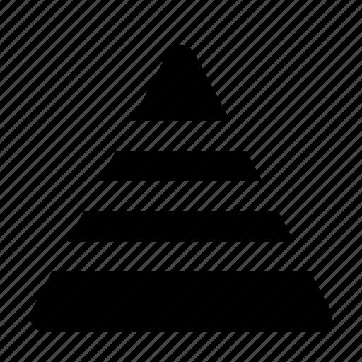 analytics, chart, graph, levels, pyramid, triangle icon