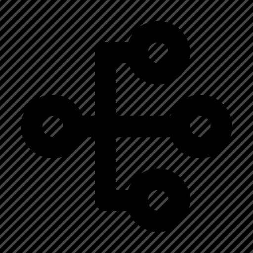 analytics, diagram, hierarchy, network, structure, workflow icon
