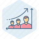 analysis, business, employee, graph, growth, promotion, report icon