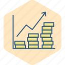 business, diagram, finance, graph, growth, report, revenue icon