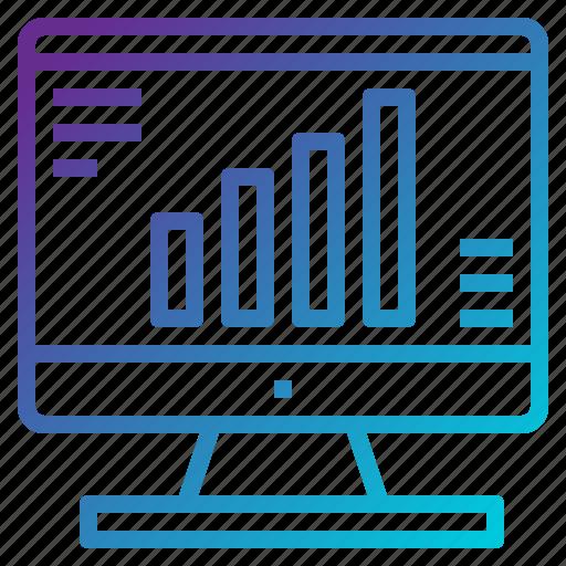 bar, chart, graph, monitor, screen, statistics icon