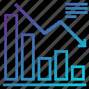 chart, decrease, graph