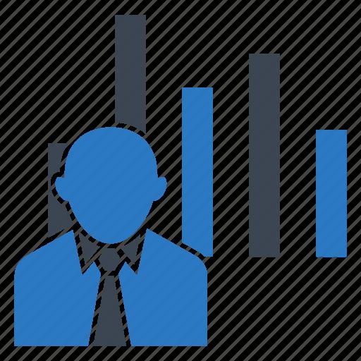 analytic, chart, graph, statistics, user icon