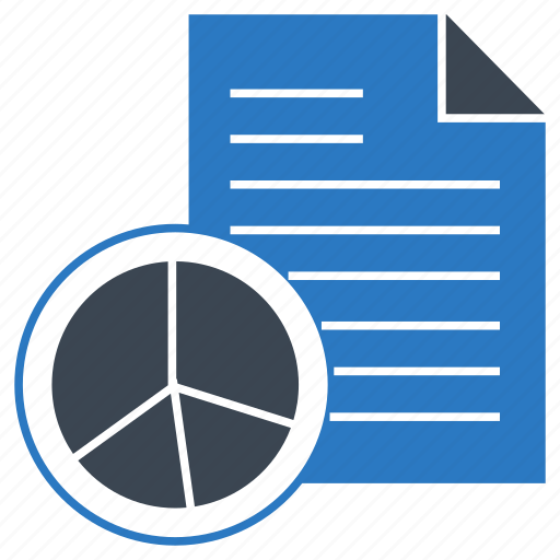 chart, graph, page, report, sheet icon