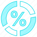 chart, graph, mathematics, percentage, statistics icon
