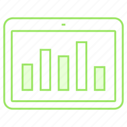 analytics, chart, device, graph, statistics icon