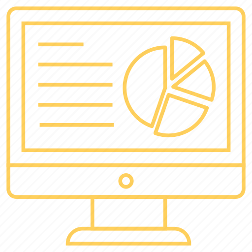 chart, device, graph, monitor, screen icon