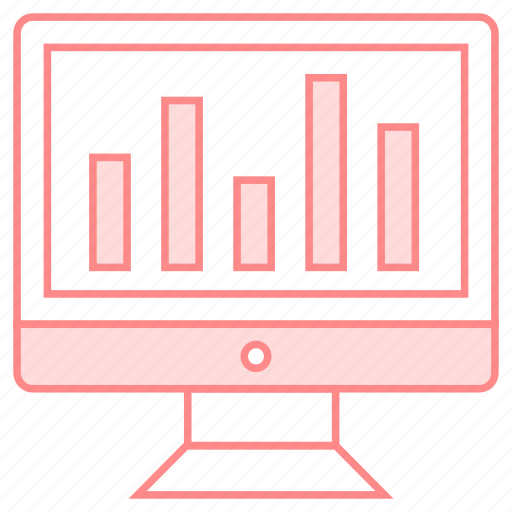 chart, graph, monitor, screen, statistic icon