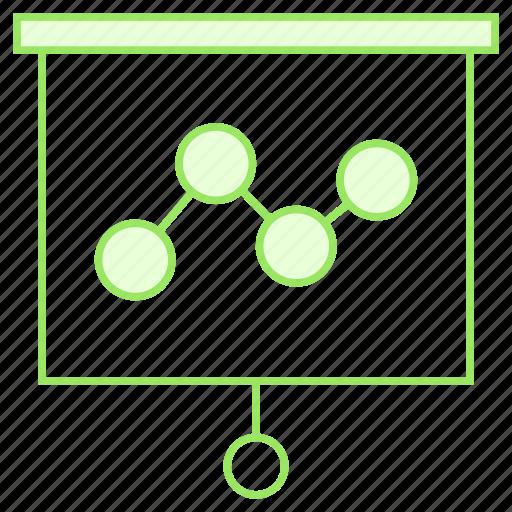 analytics, board, chart, graph, presentation icon