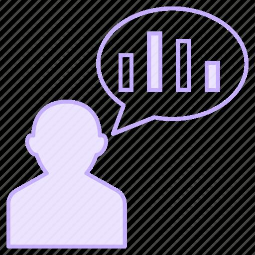 avatar, chart, employee, graph, user icon
