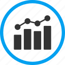 analytics, business, chart, graph, report, statistics, trend icon