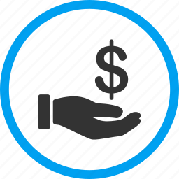 dollar, donate, earnings, hand, money, payment, salary icon