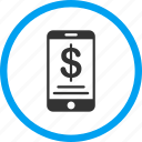 balance, dollar, iphone, mobile wallet, money, purse icon