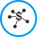 bank branches, banking, business, distribute, financial links, money emission, payouts icon