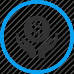 dollar, donate, finance, hands, money, pray, religion icon