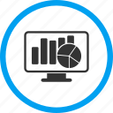 chart, computer, graph, monitor, report, screen, statistics monitoring icon