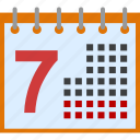 appointment, calendar, database, date, day, diary, event, grid, holiday, month, office, plan, reminder, schedule, table, time, timer icon