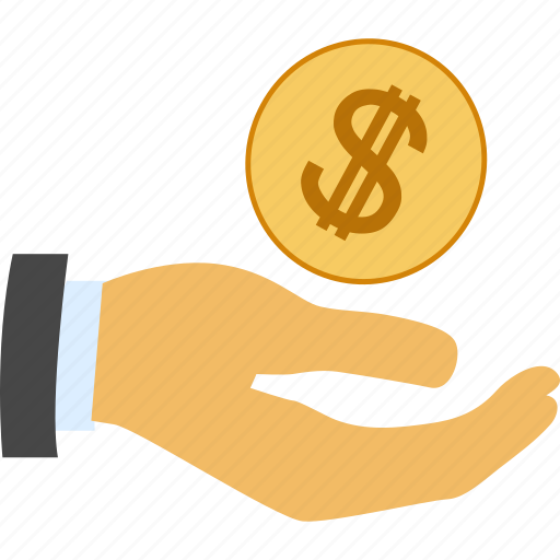 account, bank, business, buy, cash, coin, currency, dollar, earn, finance, financial, gain, guardar, hand, income, money, pay, payment, profit, salary, sale, save, shop icon