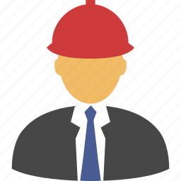 architect, builder, constructor, developer, engineer, engineering, helmet, job, manager, mechanic, safety, worker icon