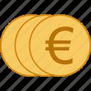 coins, euro icon