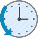 arrow, back, calendar, cancel, chargeback, clock, close, event, history, left, previous, refresh, refund, remove, reset, reverce, revers, revert, rollback, rotate, rotation, schedule, time, undo icon
