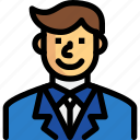 business, businessman, management, office, people icon