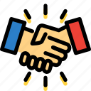 business, cooperation, handshake, management, office icon