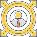 business expansion, business growth, business opportunity, career growth icon