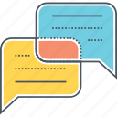 chat, communication, consult, consulting, discuss, discussion, talk icon