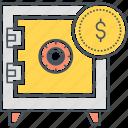 safe, safety deposit box, funds protection, safe box, safe deposit box, vault, safety box icon
