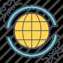 climate change, global business, global issues, global progress, international business, world economy icon