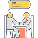 employer, hiring manager, interview, interviewee, interviewer, interviewing, job interview icon
