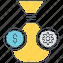 earning money, generating money, making money icon