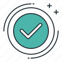 approval, approved, check, checked, checkmark, tick icon
