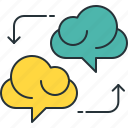 brainstorm, brainstorming, cloud icon