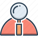 finding, idea, research, solutions icon