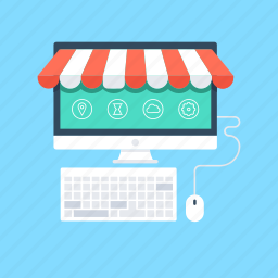 ecommerce, online shop, online shopping, online store, shopping web icon