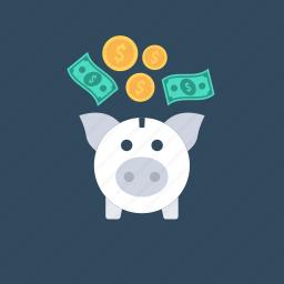 investment, money bank, piggy bank, profit, saving icon