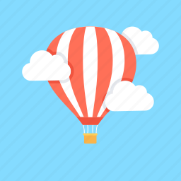 air balloon, business, business solution, discover, solution icon