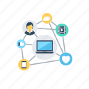 business, networking, programming process, workflow, workflow system icon