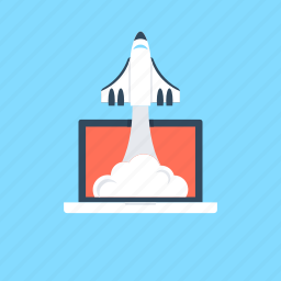 build site, missile, project launch, project startup, rocket icon