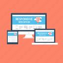 adaptive, adaptive design, layout, responsive design, web design icon