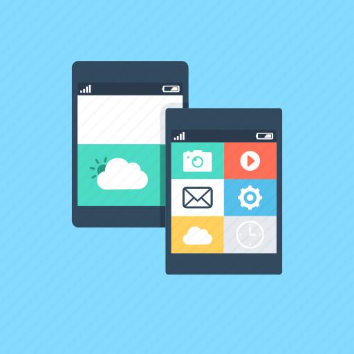 mobile, mobile app, mobile menu, mobile ui, social app icon