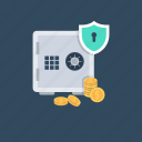 bank safe, bank vault, banking, money box, safe box icon